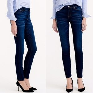 J. Crew Lookout High Rise Skinny Dark Wash Jeans